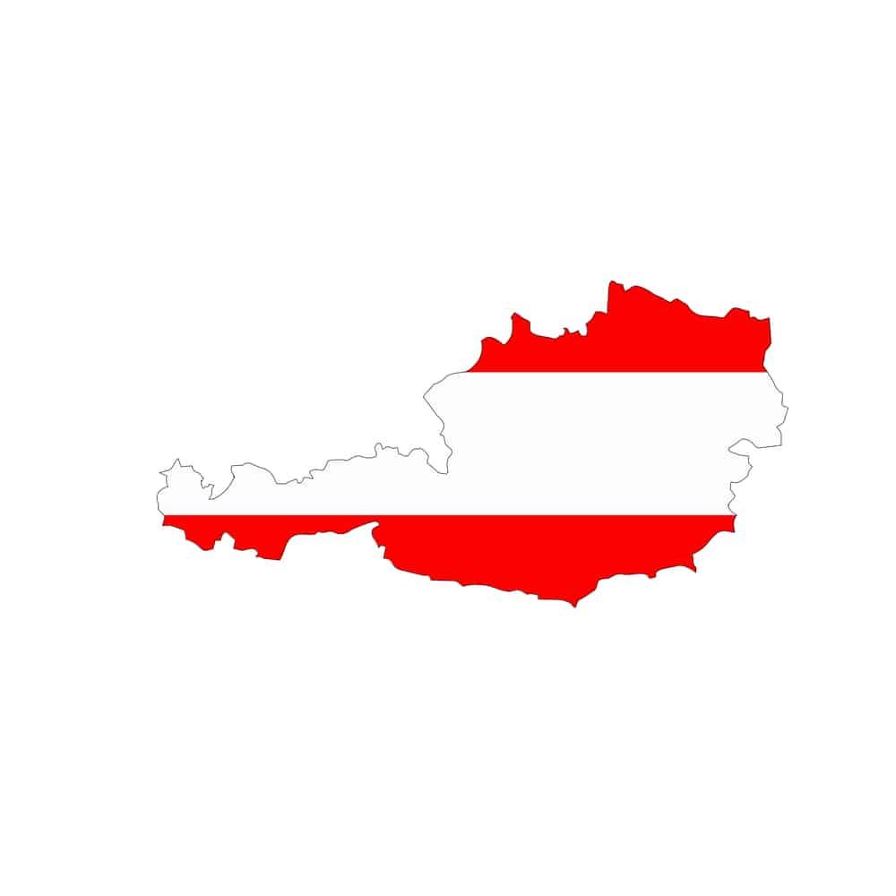 Karte von Österreich