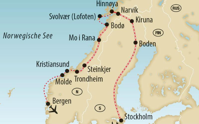 Bahnromantik, Hurtigruten & Mitternachtssonne 3
