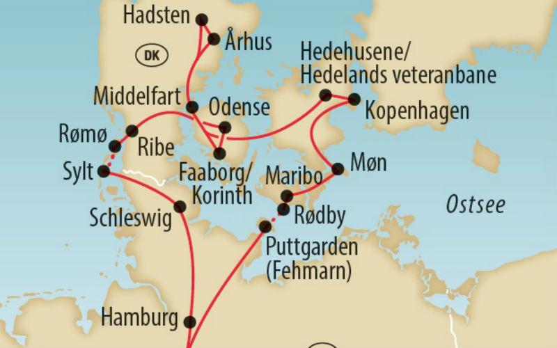 Dänemarks Trauminseln & Museumsbahnen 4