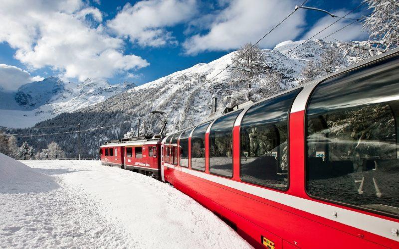 Bernina- & Glacier-Express im Winter 6