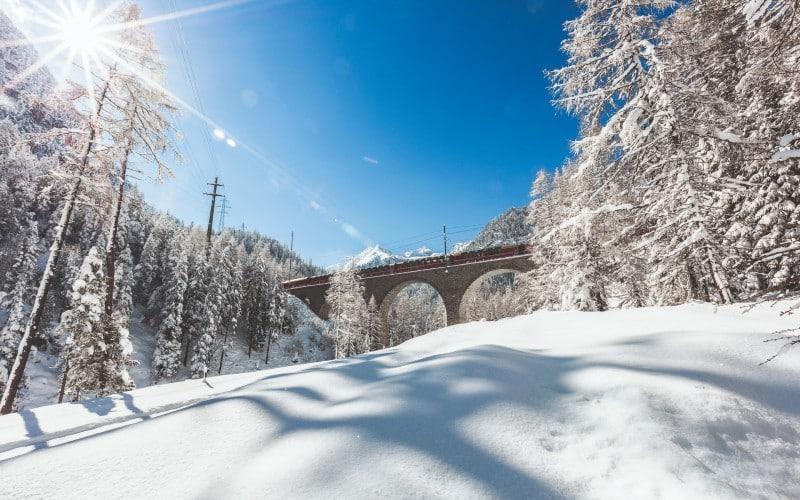 Bernina- & Glacier-Express im Winter 3
