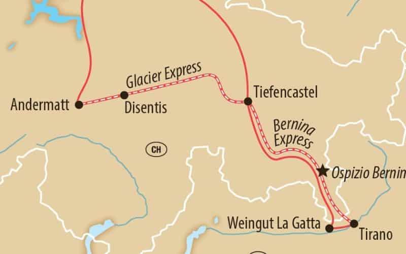 Bernina- & Glacier-Express im Winter 7