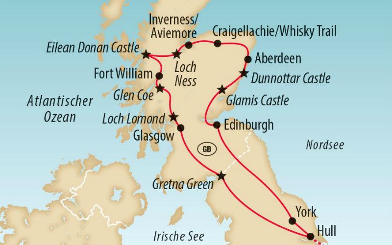 Auf grosser Schottland Tour zum Military Tattoo 1