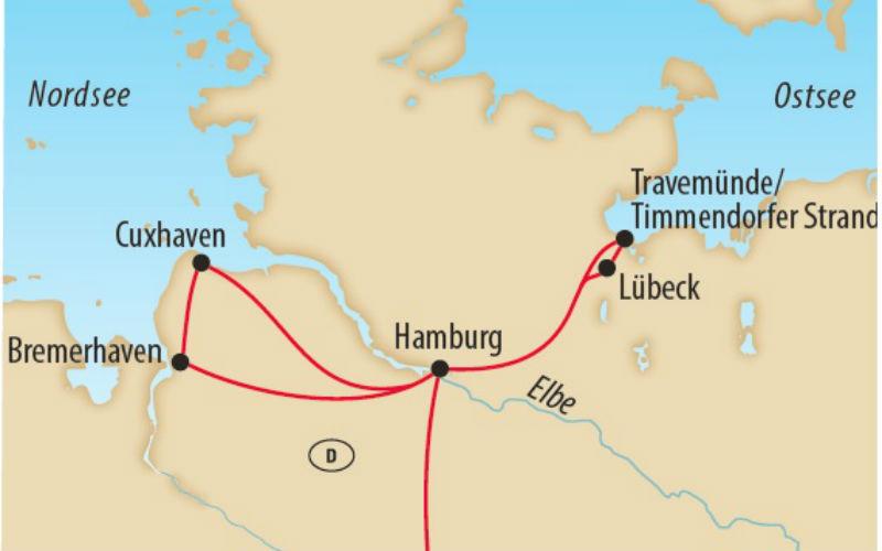 Von Hamburg an die Nord- und Ostsee 1