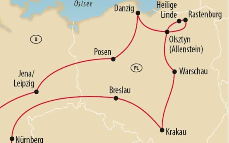 Le grand circuit en Pologne avec HILTON 4