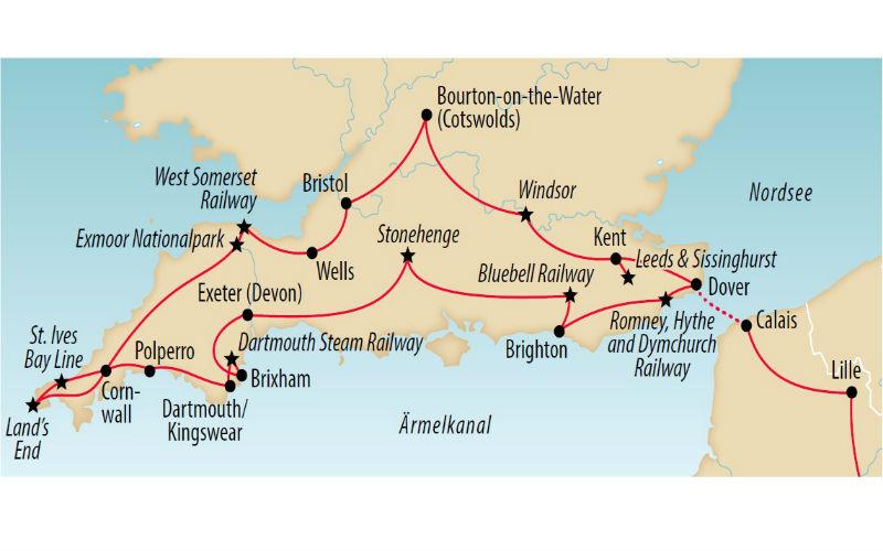 Sud de l'Angleterre - Jardins, châteaux et trains 8