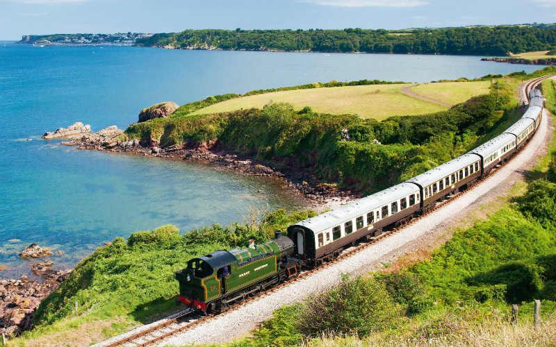 Suedengland-zug-Dartmouth Steam Railway