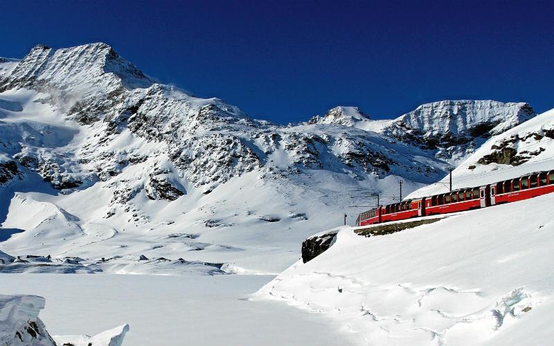 Bernina- & Glacier-Express im Winter 5