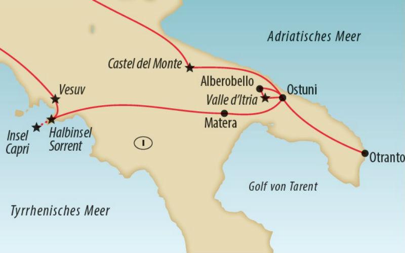 Vom Golf von Neapel nach Apulien 7