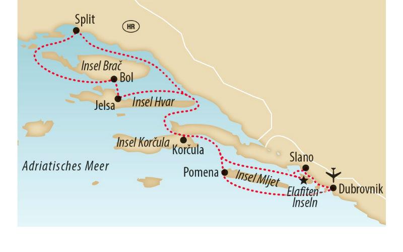 Yacht-Kreuzfahrt / Dalmatiens Inselperlen 8