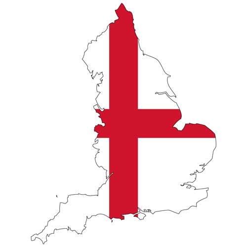 Karte von England