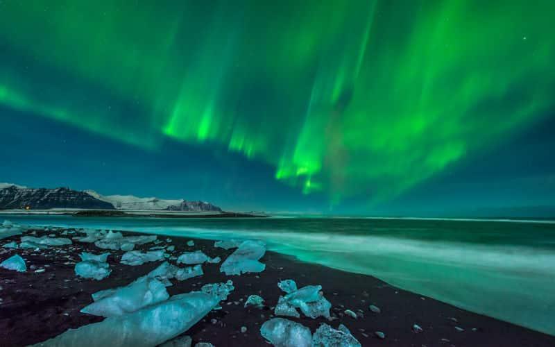 island-Polarlichter über Island