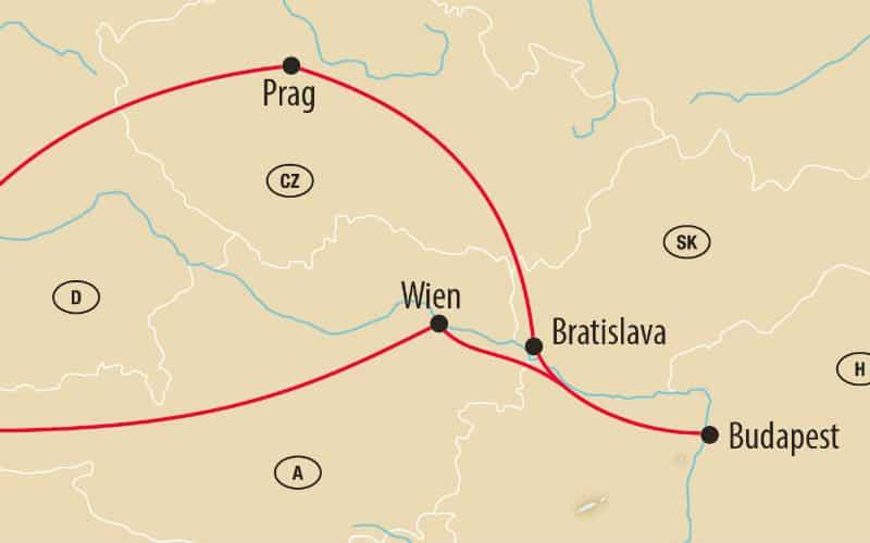 Prague, Budapest & Vienne 3