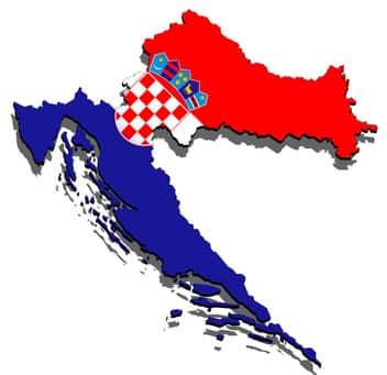 Karte von Kroatien