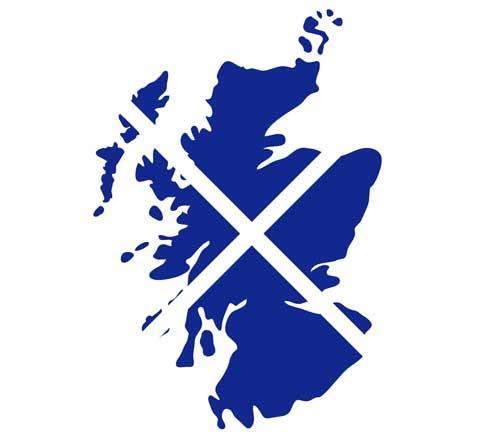 Karte von Schottland