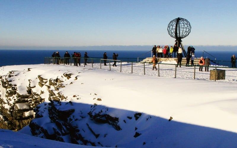 Aussichtspunkt Nordkap Bei Schönem Wetter