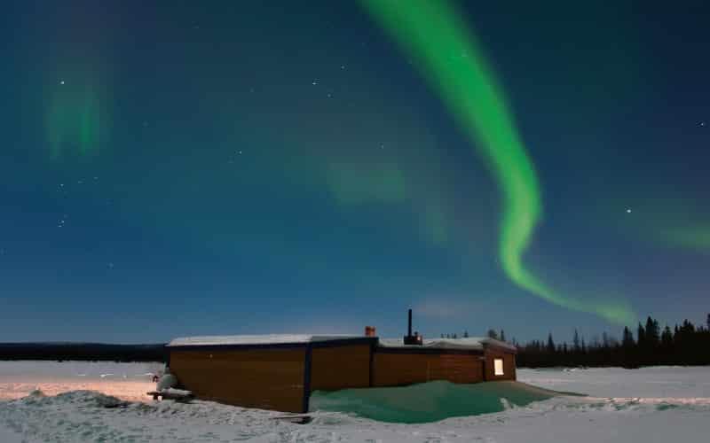 Grünes Polarlicht Beim Nordkap