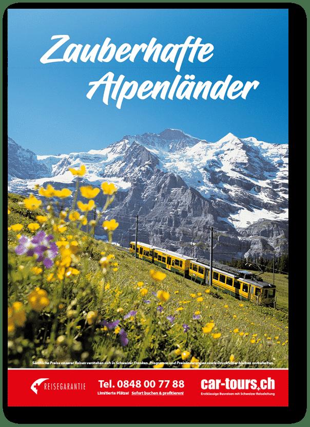 car-tours.ch Katalog Zauberhafte Alpenländer