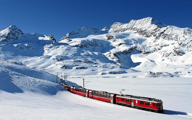Bernina & Glacier Express en hiver 1