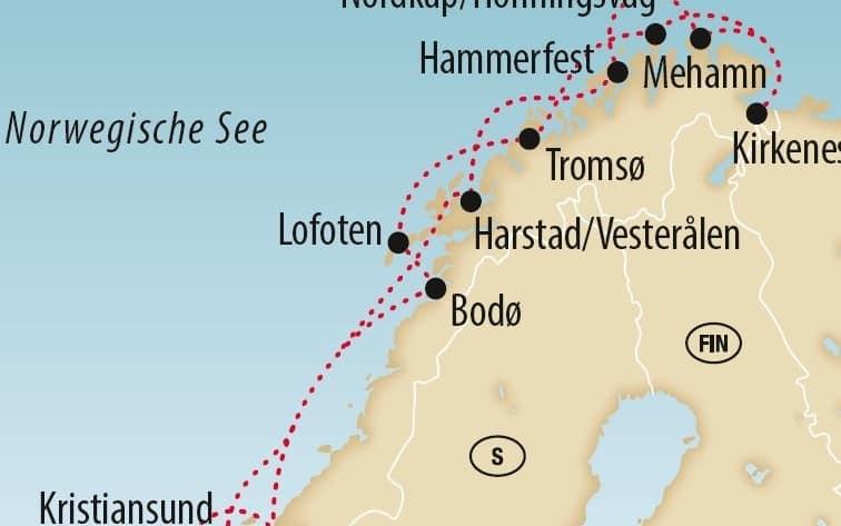 Postschiffroute & Polarlichter 2